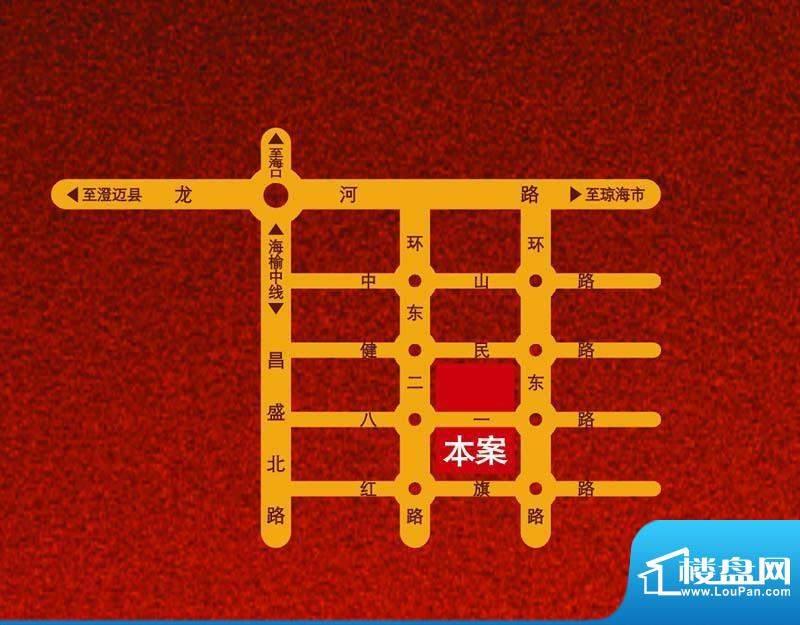 南洋广场交通图