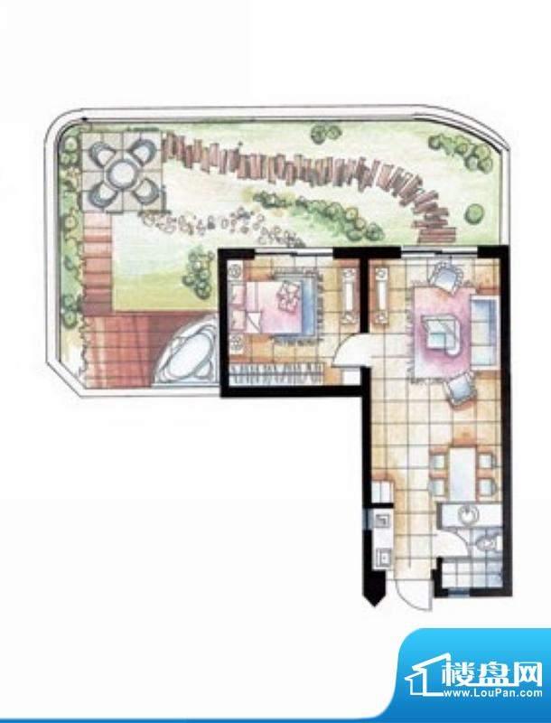 平海逸龙湾8L型 1室面积:68.00平米