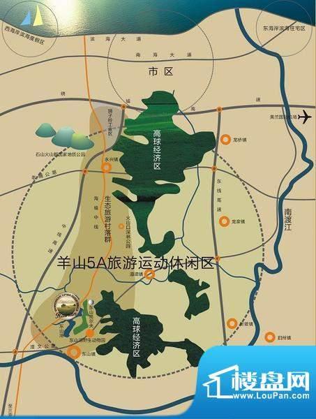 天鹅湖交通图