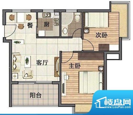 天鹅湖两室一厅1卫 面积:0.00平米