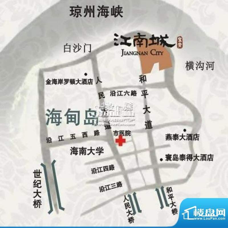 宝安江南城交通图