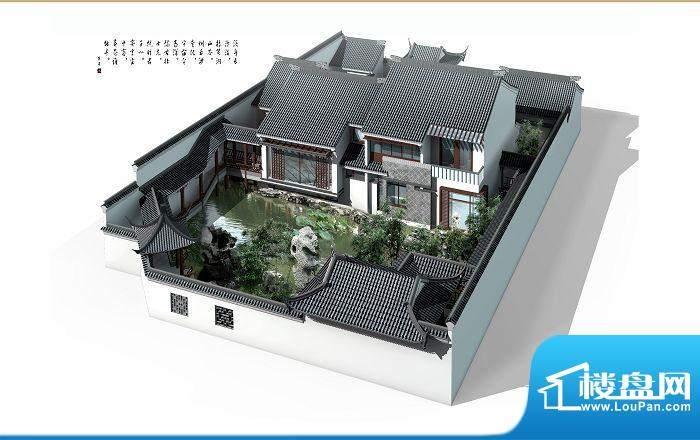 宝安江南城独栋别墅C户型鸟瞰效果图