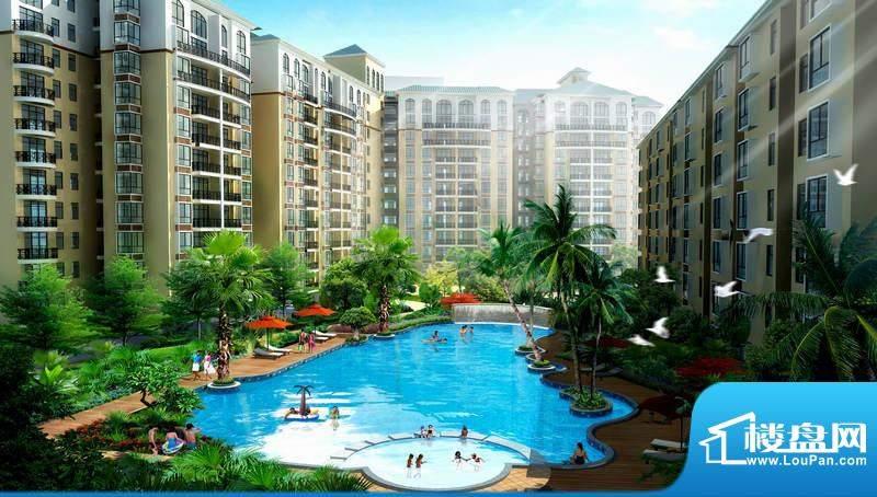 广东街游泳池景观效果图