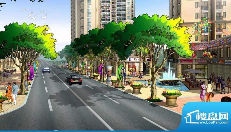 广东街商业街景观效果图