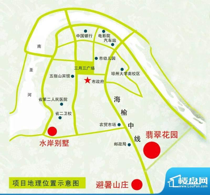 翡翠新城南区交通图