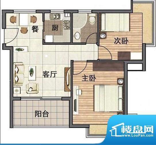 博海悠度湾两室一厅面积:0.00平米