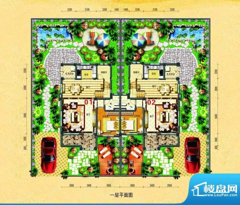 碧桂园椰城双拼别墅面积:187.36平米