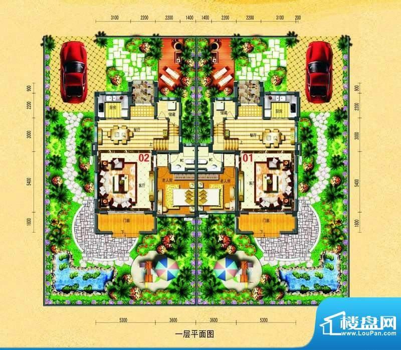 碧桂园椰城双拼别墅面积:187.89平米