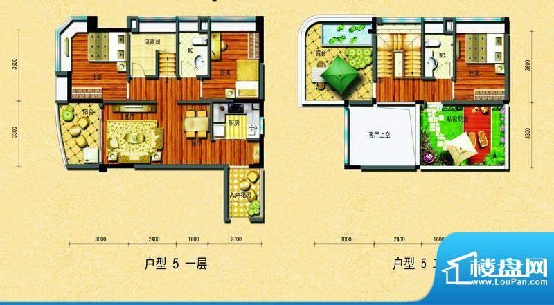 碧桂园椰城户型5 3室面积:109.08平米