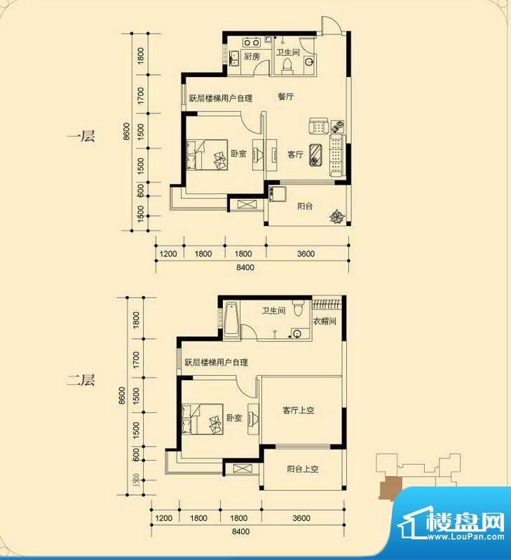 蓝湖海韵B-3户型 2室面积:102.16平米