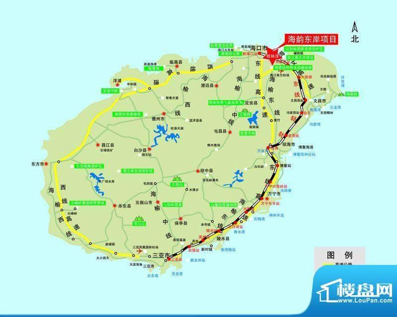 海韵东岸交通图