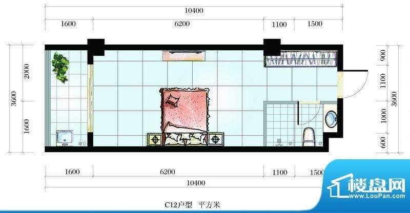 海韵东岸C12户型 1室面积:0.00平米