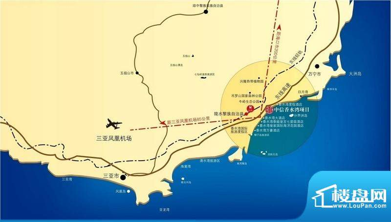 中信香水湾交通图