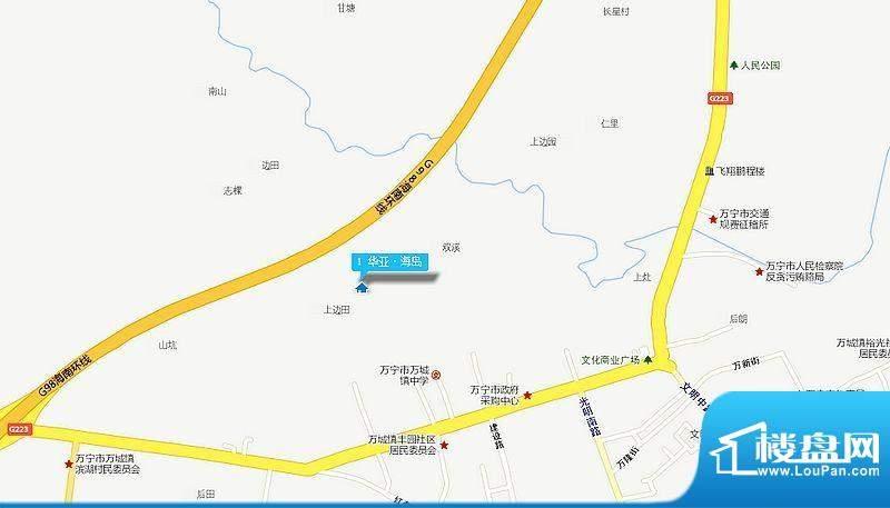 华亚海岛假日二期交通图