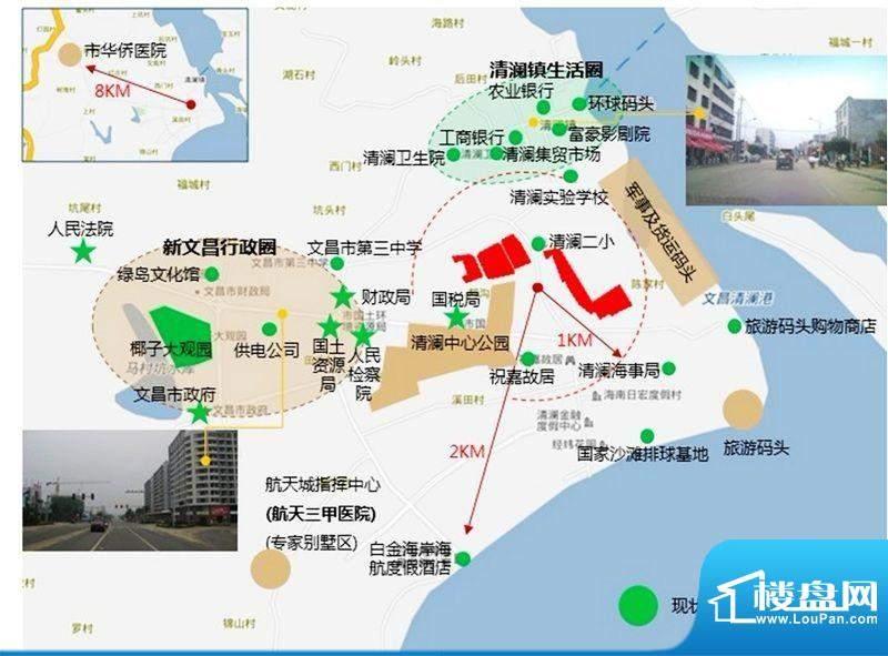 正商红椰湾交通图