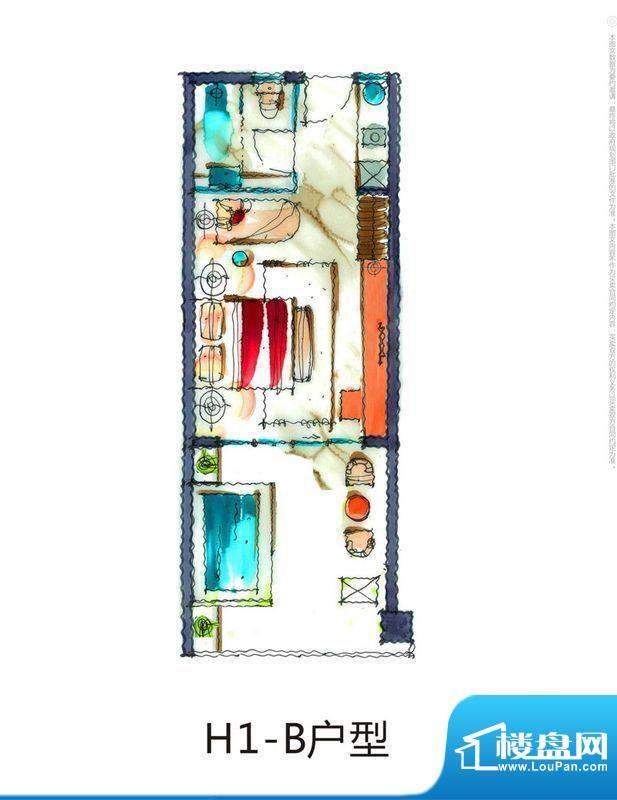 芭蕾雨逸景H1-B公寓面积:40.00平米