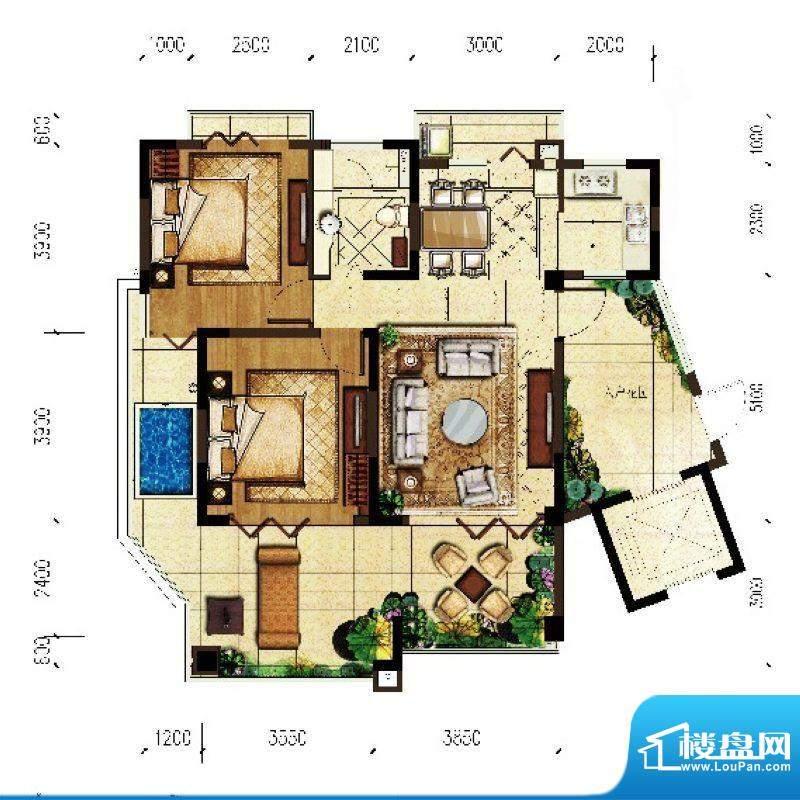 翠屏阅棠公寓G1户型面积:101.92平米