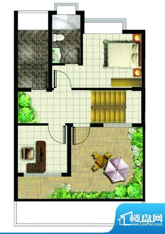 地恒花园B型户型图(面积:115.00平米