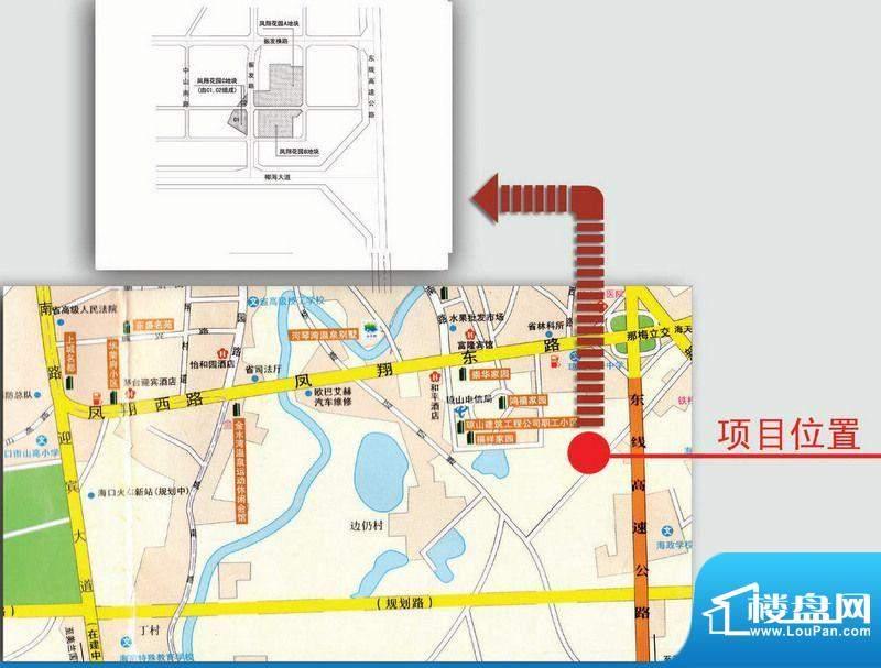 凤翔花园交通图