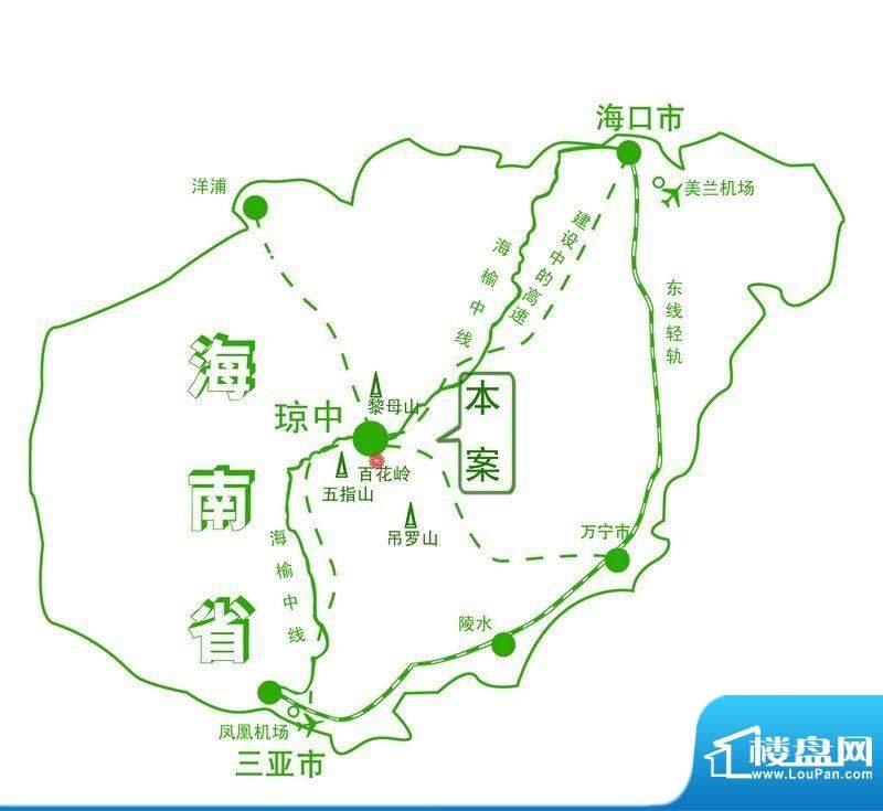 水晶绿岛交通图