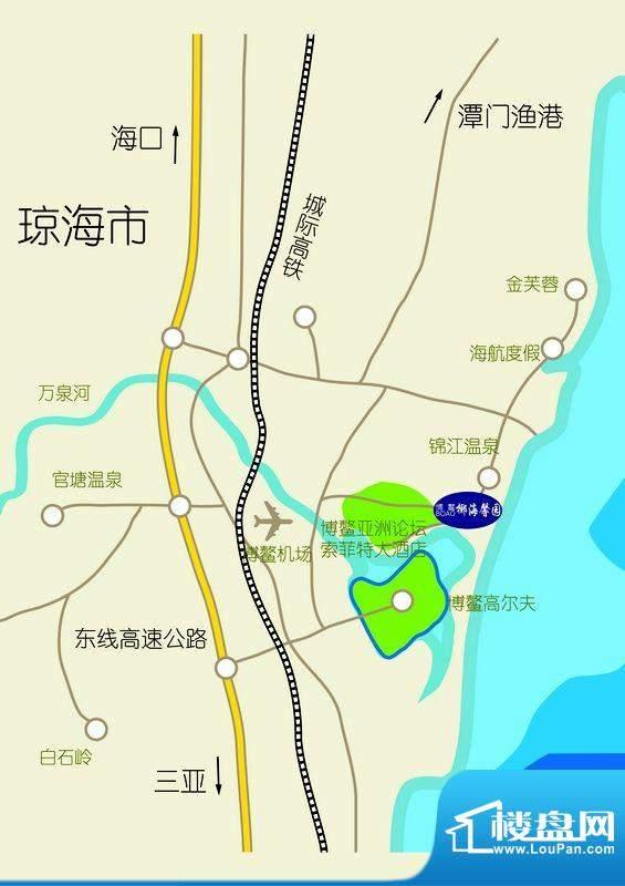 博鳌椰海馨园交通图
