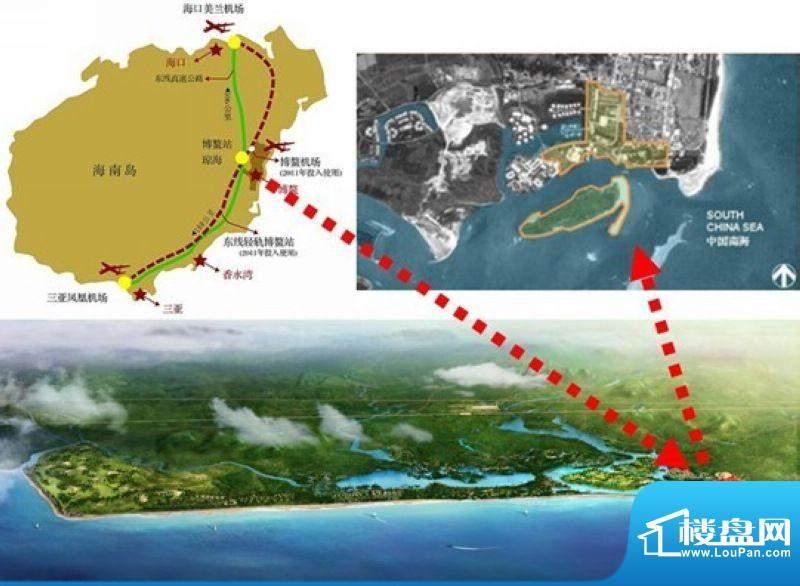 中信博鳌三江口交通图
