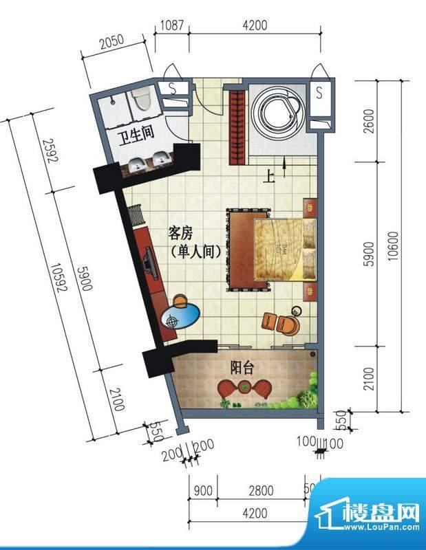 南国金滩假日客房单面积:0.00平米