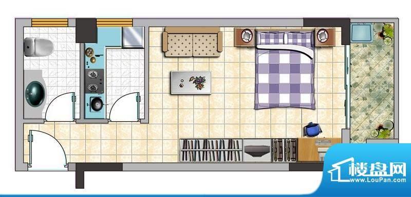 诚品1000B户型图 1室面积:0.00平米