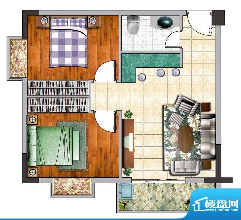 诚品1000D户型图 2室面积:0.00平米