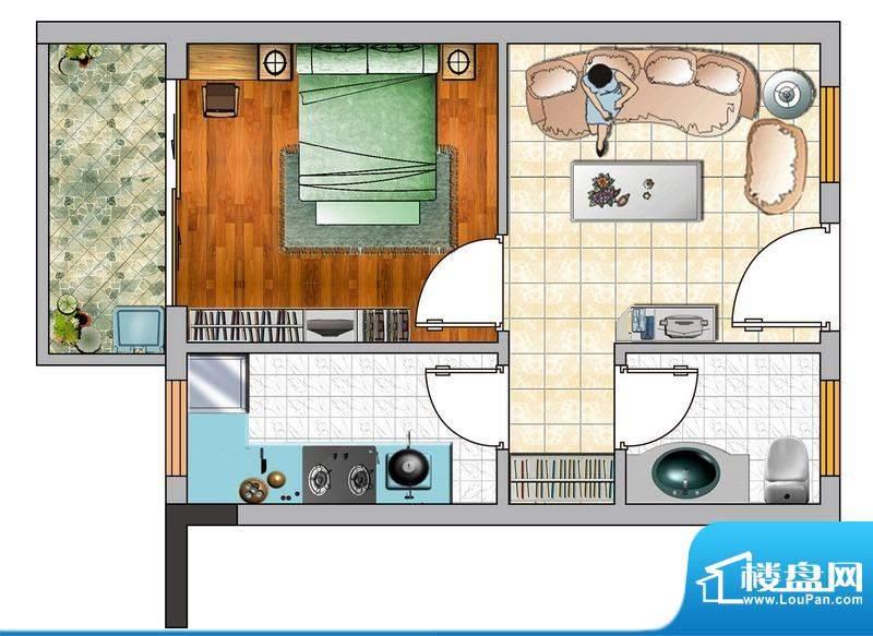 诚品1000E户型图 1室面积:0.00平米