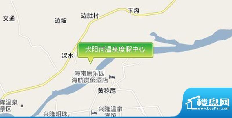 太阳河温泉度假中心交通图