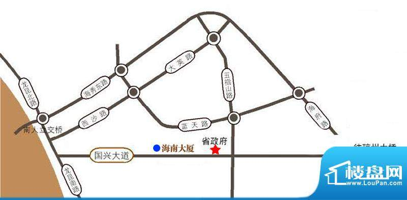 海南大厦交通图