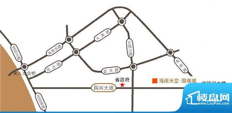 国瑞大厦交通图