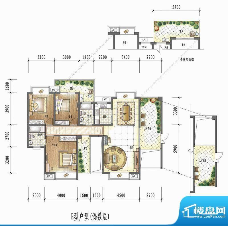 国瑞花园E型户型(偶面积:0.00平米