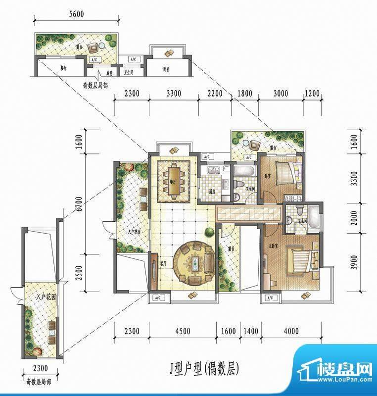 国瑞花园J型户型(偶面积:0.00平米
