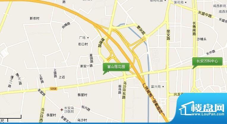 富山居花园交通图