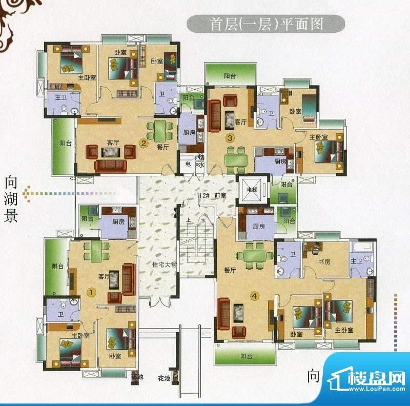金田花园花域12栋10面积:72.01平米