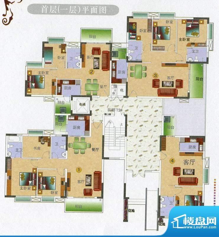 金田花园花域13栋10面积:106.53平米