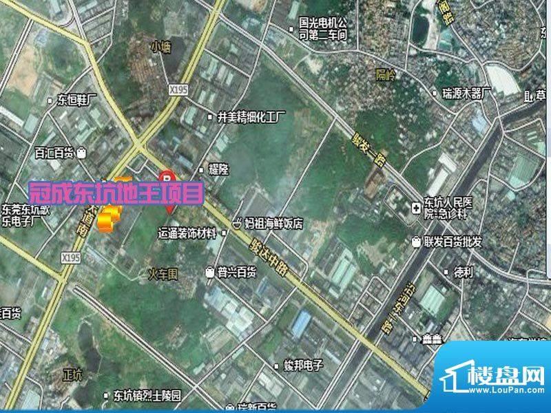 冠成东坑地王项目交通图