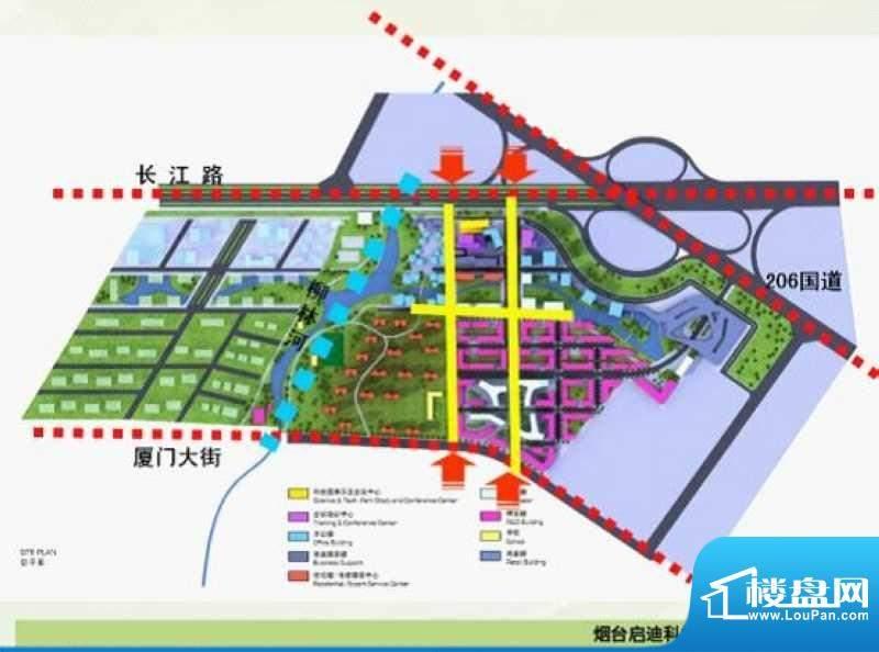 业达科技园交通图