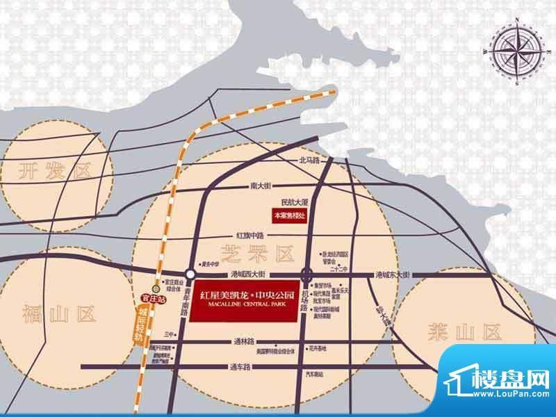 红星美凯龙中央公园交通图