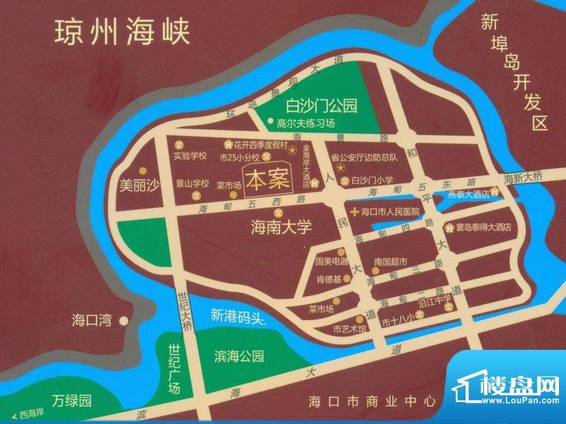 海岸郁金香花园交通图