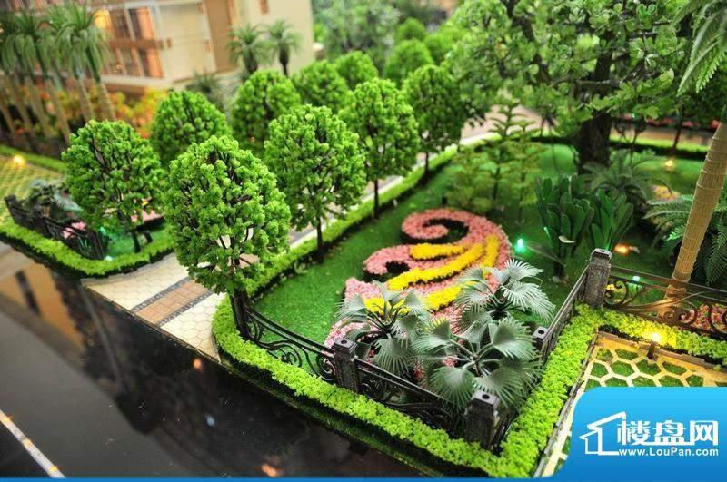 碧桂园·小城之春园林绿化沙盘实景图