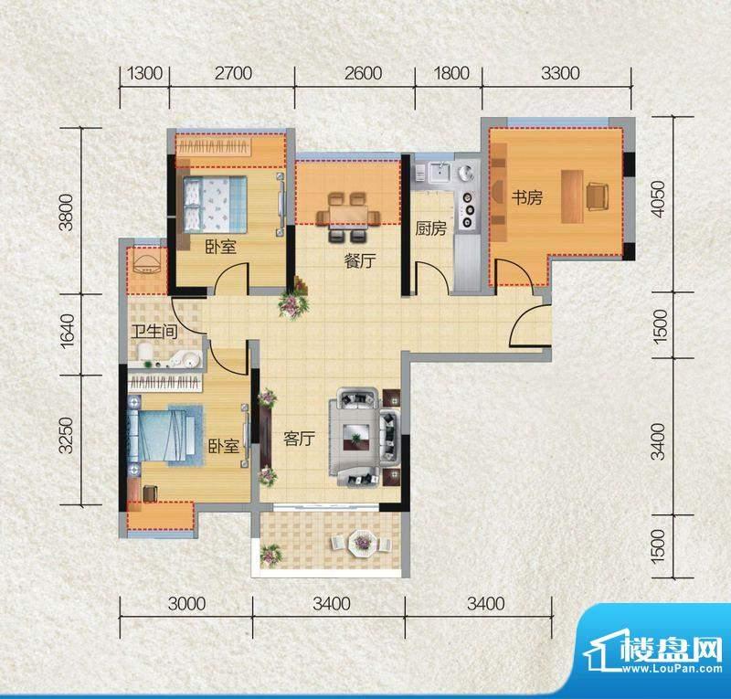 碧桂园·小城之春01面积:74.00平米