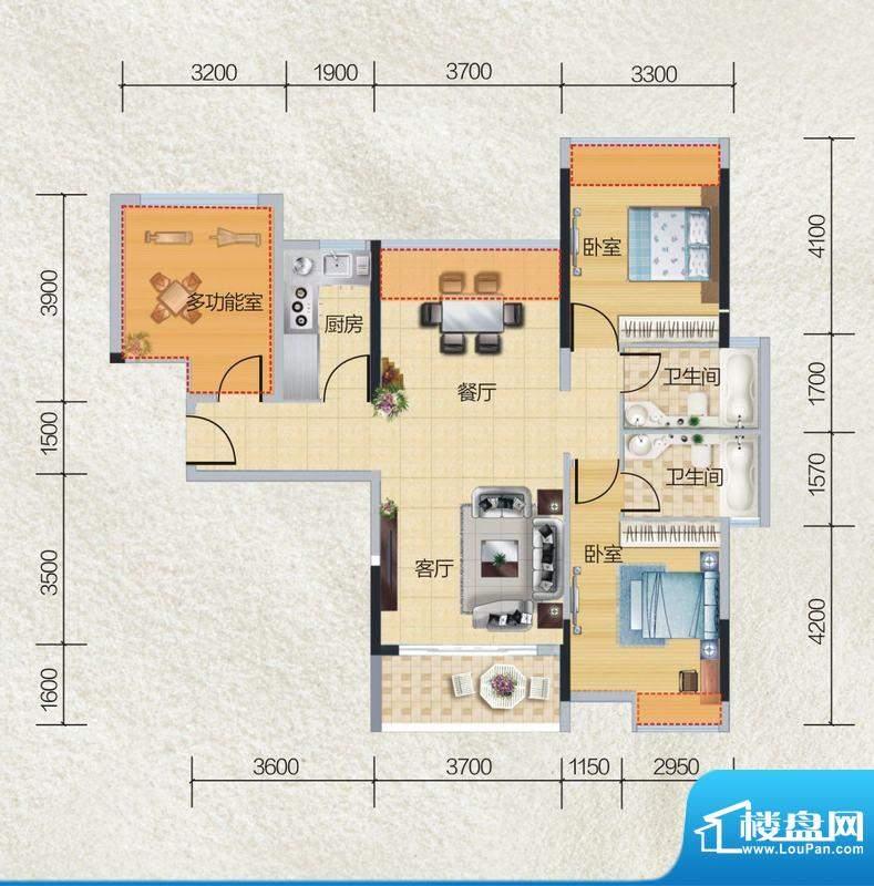 碧桂园·小城之春02面积:99.00平米