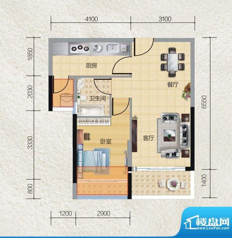 碧桂园·小城之春04面积:55.00平米