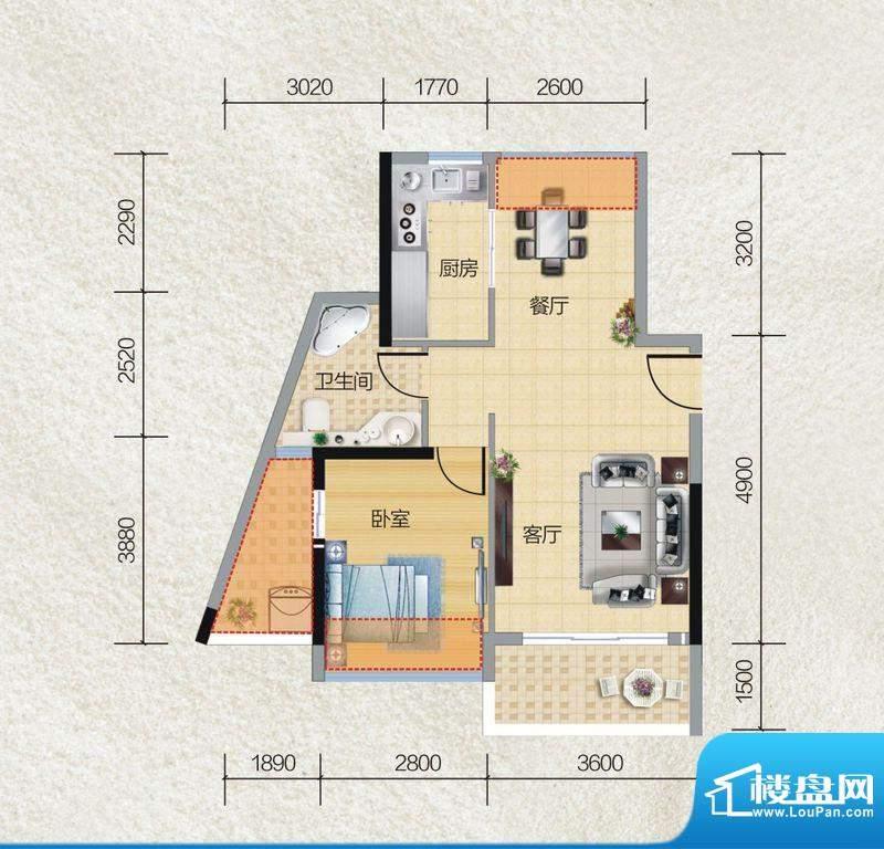 碧桂园·小城之春05面积:59.00平米