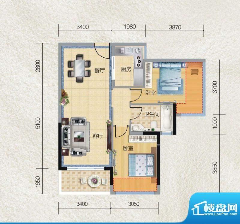 碧桂园·小城之春06面积:85.00平米