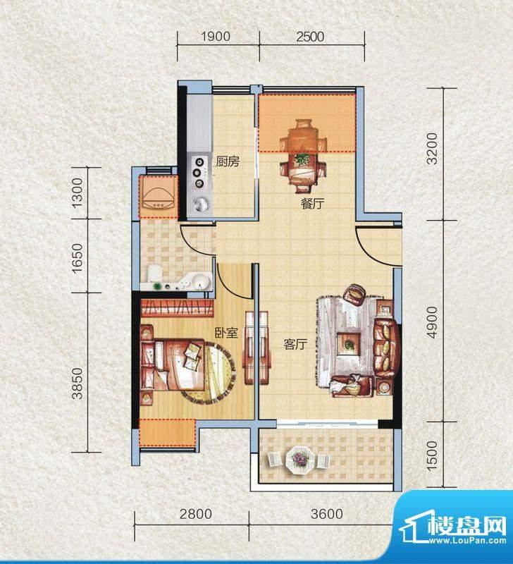 碧桂园·小城之春09面积:56.00平米
