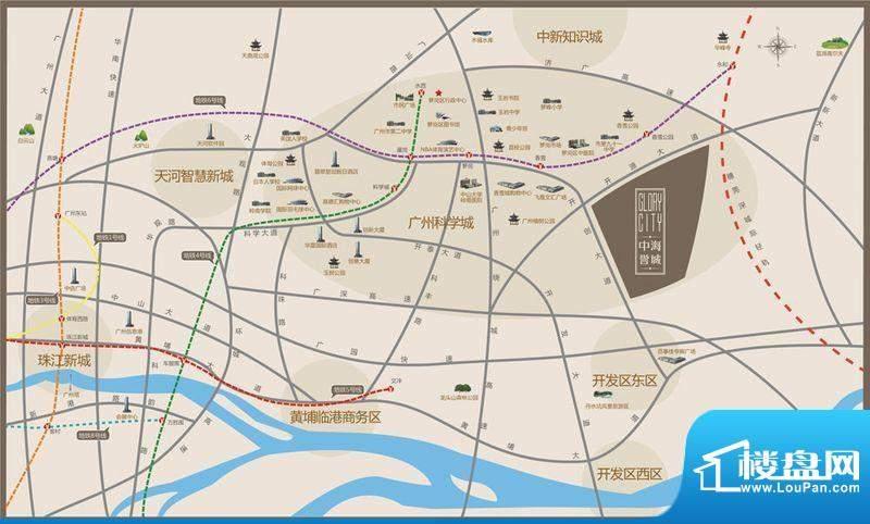 中海誉城交通图